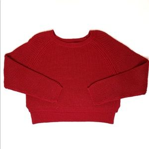 A.L.C Red High Low Scoop Neck Sweater